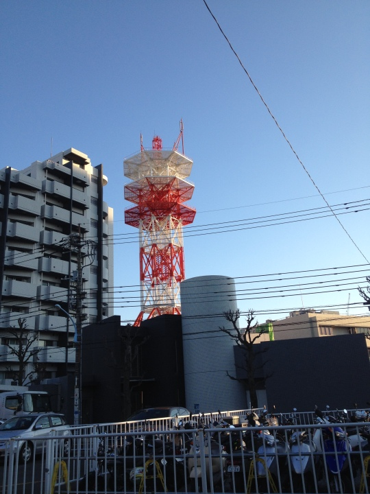 On my way to the immigration bureau to pick up my forms, there was this funky tower. I don't know what it is but I liked it.