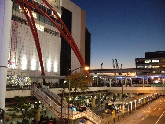 A nice view of Tachikawa station plaza