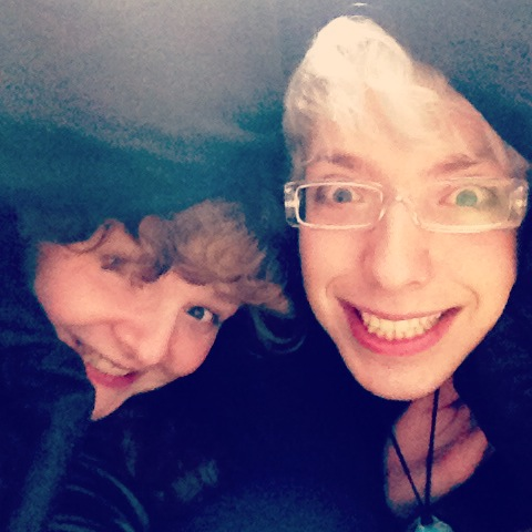 It was cold so we hid in the duvet :)