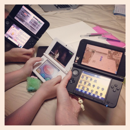 Bekah, Sam and I had a DS party :)