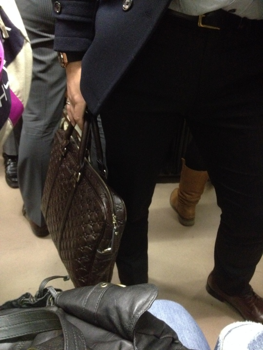 So most men in Japan have these wonderful and stylish manbags and I just love it! I had to snap a sneaky pic of this guy's as it was just so designer looking :P