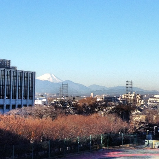 This was an amazing moment for me; the first time I saw Mt. Fuji from my dorm!! How cool is that, I can see an amazing landmark from the comfort or my own building!
