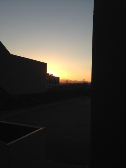 Another Mt. Fuji shot; sunset version!