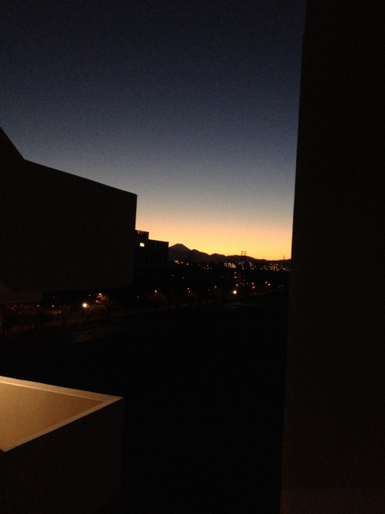 A sunset behind Mt. Fuji :)