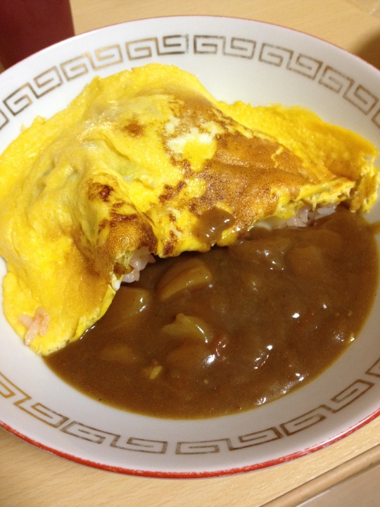 Marlene and I made omerice and curry sauce one night; it was yummy!