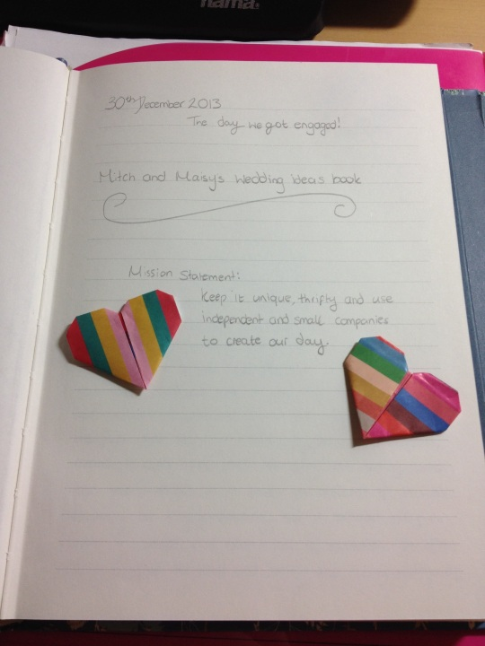 Marlene taught me how to make cute paper hearts :)