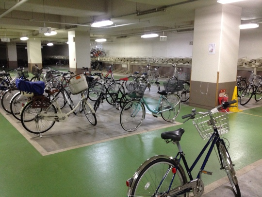 So you know underground car parks? Well Japan cycles so much that they have them for bikes!!!