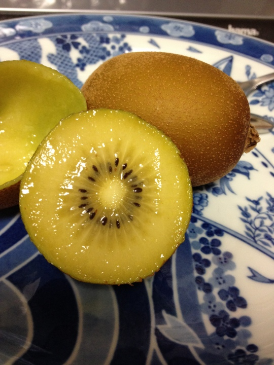 Japan and Marlene have introduced me to golden kiwi fruit; it's delicious :)