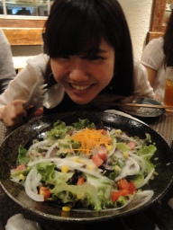 Salad time :) Eriko was excited!