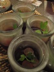 Dessert; vodka grape jelly!