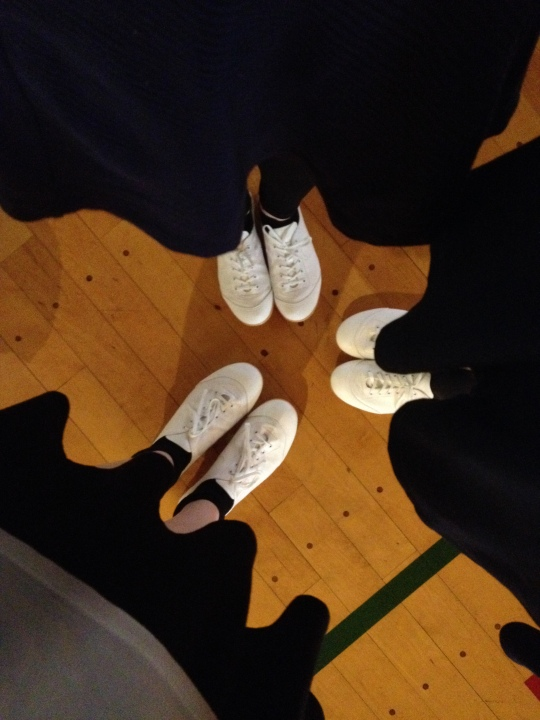 Marlene, Nadja and I all have our shoes now!