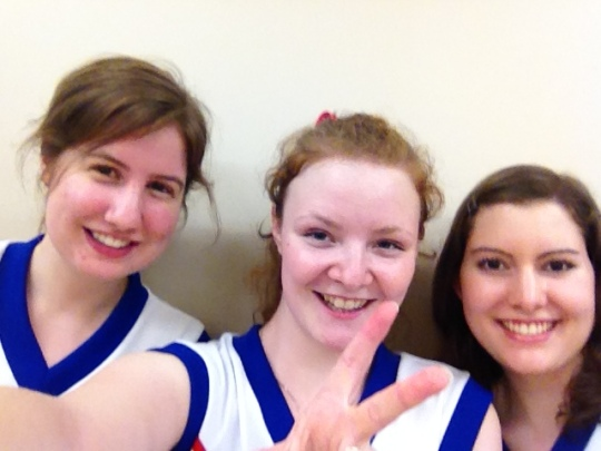 Uniform selfie!! We were so happy to finally be in a uniform, even if it was just a rental one!