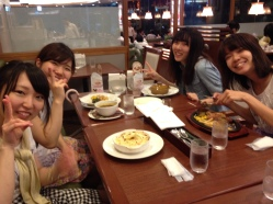After practice we went for dinner with some of the girls to a place called Royal Host in Musashi-sakai