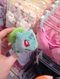 So on my Birthday on April 22nd; over 2 months ago, I lost my bulbasaur keyring from my backpack somewhere in Harajuku. When we were in the bra shop Mitch pointed this out because he thought it looked out of place and I immediately knew it was mine from ages ago!! So weird! The best thing is the shopkeeper who let me have it back was inadvertently dressed like Misty from the anime!!