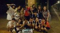 Monday night's practice; the last official practice with all of us who are to graduate :')