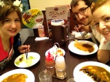 After performance curry with Mitch and Marlene :)