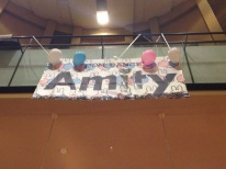 The giant sign we made!
