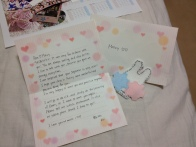 Mao gave us letters and hand-made Amity bunnies! So, so sweet :')