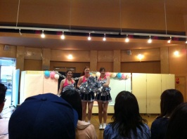 Between the 'cute medley' and Summertime we were the MCs! In Japanese and all :D