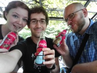 We found amazing Japanese glass coke bottles for sale, so we got one each :)