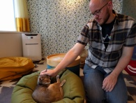 Gary's first cat cafe!