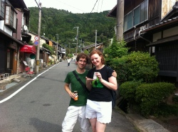 Off the path, on to the roads and heading to Nanzenji. Coffee from the vendy!