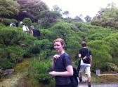 Exploring the gardens